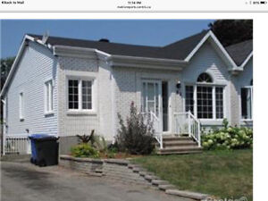 Semi detached house for rent $1200.