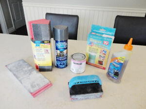 7 Piece Lot of Sanding, Paint and Glue Products All 7 for $16.00