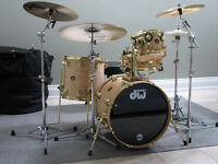 DW Collector's Serie Kit & Craviotto Snare Natural/Gold Hardware