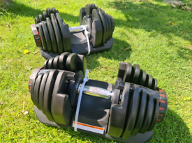 Adjustable dumbbells 40kg. Price is for a pair.