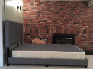 Faux Leather twin bed with box