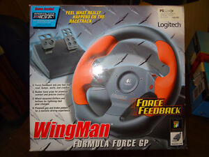 Logitech Wingman Force Feedback Gaming Steering Wheel