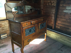 Antique hutch / side table