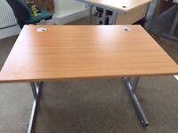 30 x Nice lovely brown 80cm x 80cm desks. Delivery