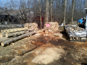 Firewood red oak and maple plus red oak logs for sale