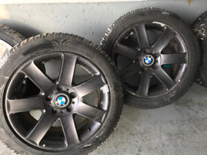 5 BMW Winter Rims 225/50/r17 and 215/50/r17