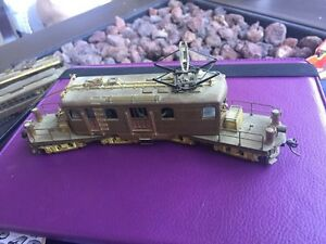 Beautiful four wheeled brass locomotive crafted bye Orion  London Ontario image 1