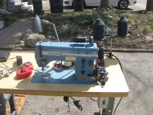 Industrial Singer Sewing Machine 20U, 2/5 HP Consew Clutch Motor