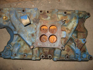 351 Ford Windsor cast iron 4 barrel manifold, sell or trade London Ontario image 1