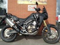 HONDA CRF1000 AFRICA TWIN DCT MODEL FITTED WITH A BLACK SCREEN