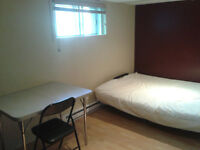 clean semi basement room beside metro angrignon available now