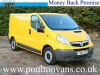 2013 (63) VAUXHALL VIVARO 2900 ECO FLEX SWB LOW ROOF PANEL VAN,115BHP, Medium