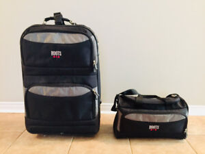 Roots samsonite suitcase and duffle bag