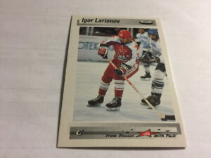 1992-93 Tri-Globe From Russia with Puck#2 Igor Larionov HKY CARD