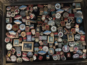 Collector lapel pins from around the world