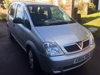 Vauxhall mervia silver mot ideal people carrier easy access £1275