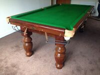 Snooker table slate bed 7x4
