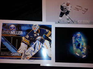 Ryan Miller and Sedin Twins 5x7 For Sale!