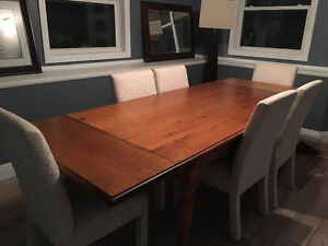 6 Dining room Parsons Chairs