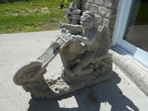 concrete motercycle gargoyle 90 harley placks 40