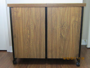 Sewing Cabinet with matching stool $300.00 or B. O.