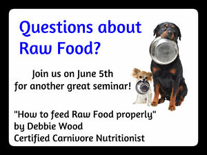 "SEMINAR ""How to Feed Raw Food Properly"" by Debbie Wood"