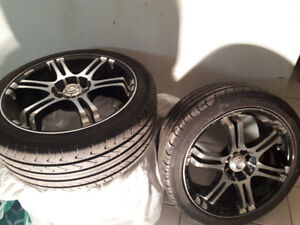 Konig Tuner 2 wheels & 17inch tires 215/45 r17 4 bolt universal