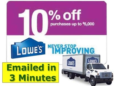 Five(5x) Lowes 10% Off Discount- expiry 9/30/18  ed