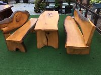 Solid Beech Wood unique garden furniture/dining set