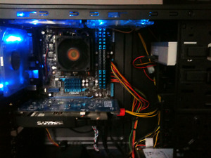 Good for gaming, Six core AMD system, 8gb ddr3 2033mhz ram, 1.5