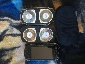 PSP for sale WITH games / games case + chargers