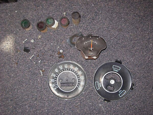 1962/63 Acadian Beaumont dash clusters and parts