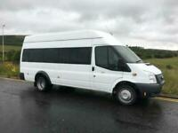 FORD TRANSIT 2.2 17 SEAT HIGH ROOF MINIBUS ONLY 21K MILES!!! 12 MONTHS MOT!!