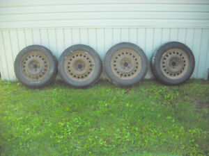 "Winter Tires 215 / 60 R 17""  96T w/ rims"