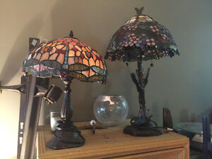 Two Tiffany Stained Glass Lamps