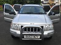 Jeep Grand Cherokee 2.7 CRD auto Limited, BULL BARS, SIDE STEPS, MERCEDES ENGINE