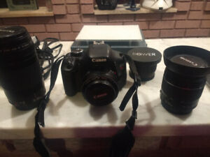 LN Canon Rebel T3i with 2 batteries, and 4 Lens - $400 OBO