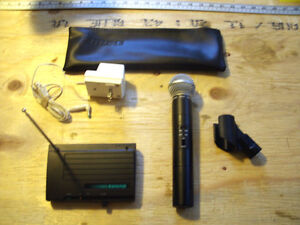 Shure SM58 wireless mic with receiver