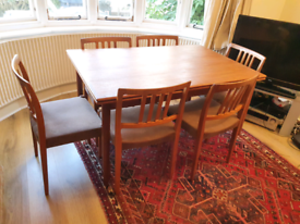 Danish teak dining table by AM mobler no chairs.