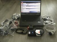 Full Delphi diagnostic and remapping kit including laptop and all cables
