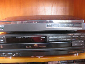 FOUR PCE. SONY STEREO SYSTEM; NOW INCLUDES STEREO CABINET