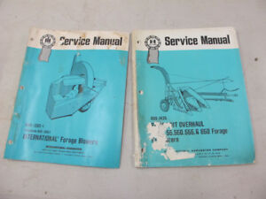 IH Forage Blower & Forage Harvester Service Manuals