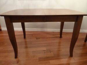 Solid Wood Dining Room Table, 6 Chairs & Buffet