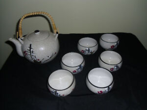 japanese tea pot and cups