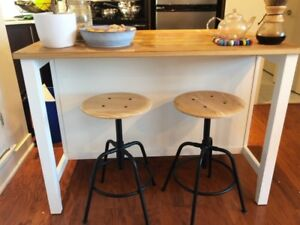 IKEA STENSTORP kitchen island - white and wood