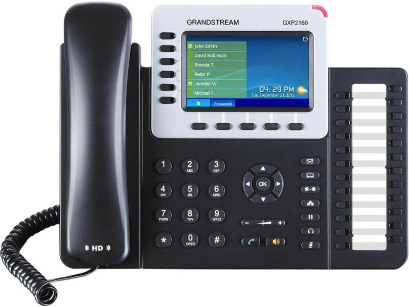 Lot of 6 x GRANDSTREAM GXP2160: 6 Line HD IP Phone w/ Color Display - VoIP