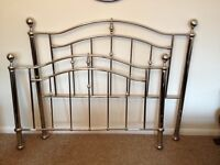 Chrome double bed head and bed end