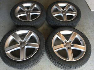 Audi A5 wheels with snow tires
