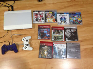PS3 with remotes and games Edmonton Edmonton Area image 1