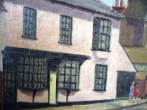 "British Original Painting by O. Nail ""High Street in Epsom"" 1959 Stratford Kitchener Area image 9"